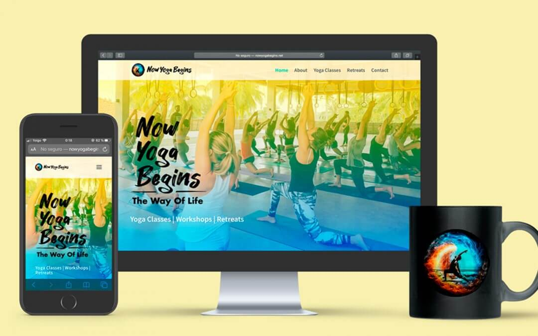 website Now Yoga Begins